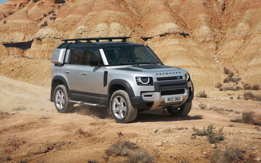 """Frankfurte pristatytas naujasis """"Land Rover Defender"""""""