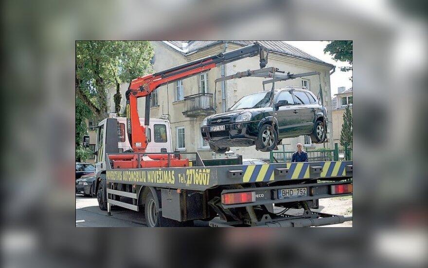 Vairuotojų baubas - priverstinis nutempimas