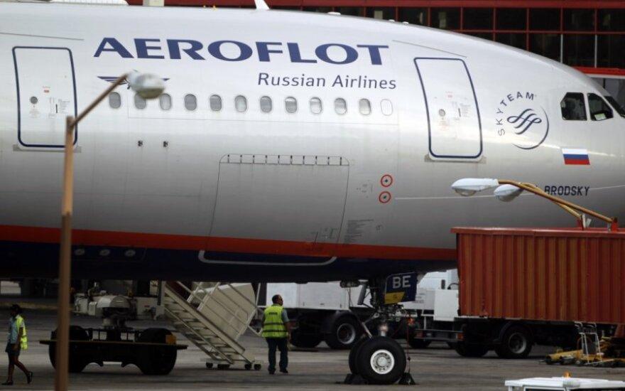 Rusijos didžiosios skrydžių bendrovės skaičiuoja nuostolius