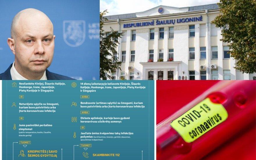 Koronavirusas pasiekė Lietuvą: iš Italijos grįžusi moteris izoliuota Respublikinėje Šiaulių ligoninėje