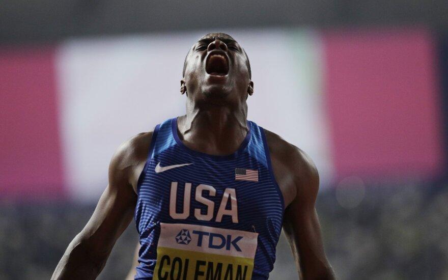 Pasaulio 100 m sprinto čempionu tapo Christianas Colemanas