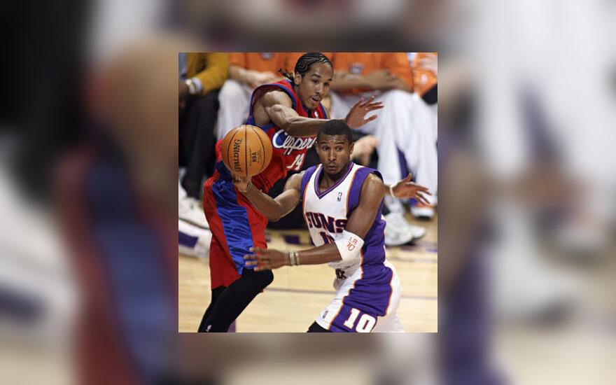 "Leandro Barbosa (""Suns"") prieš Shauną Livingstoną (""Clippers"")"