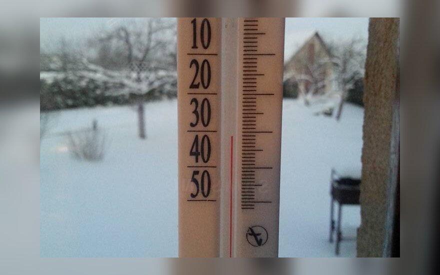 Fotografuok! Termometras rodo stingdantį šaltį!
