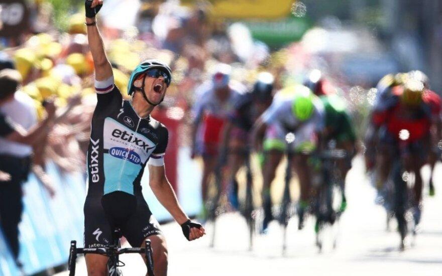 """Šeštą """"Tour de France"""" etapą R. Navardauskas baigė su pagrindine grupe"""