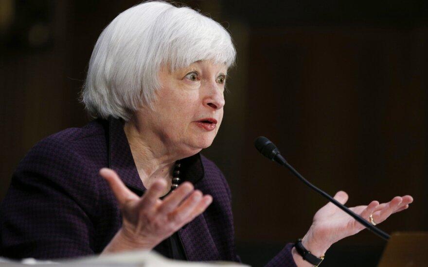 """""""Biržos laikmatis"""": Yellen vėl prakalbo apie didesnes palūkanų normas"""