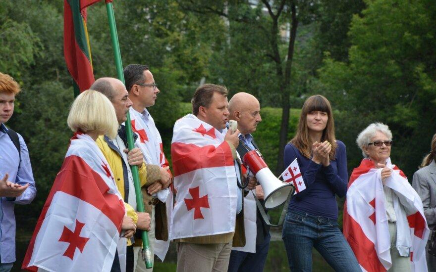 Rally to commemorate the 8th anniversary of the Russian invasion of Georgia. Photos Viktorija Adomėnienė