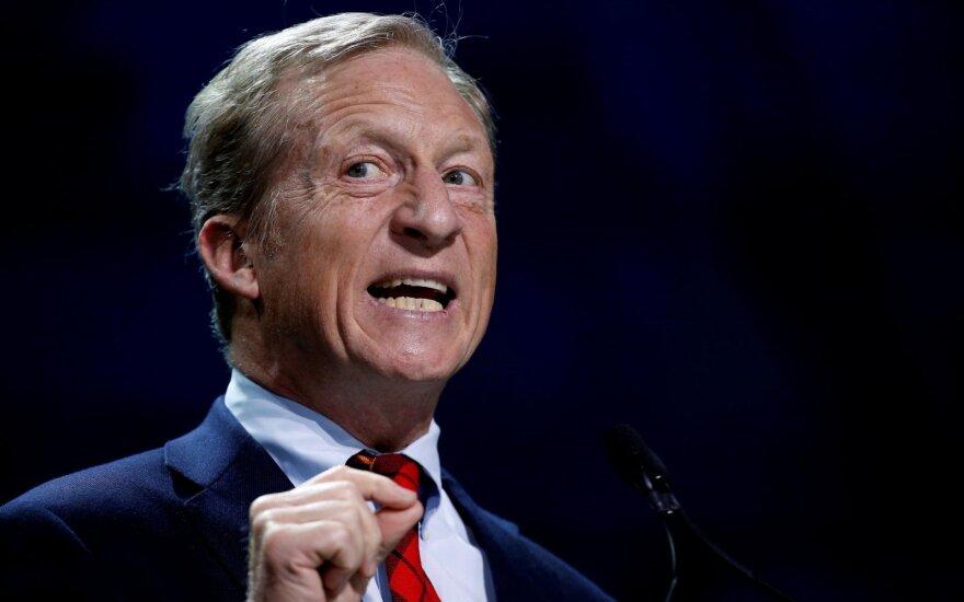JAV milijardierius Steyeris pakeitė poziciją ir sieks prezidento posto