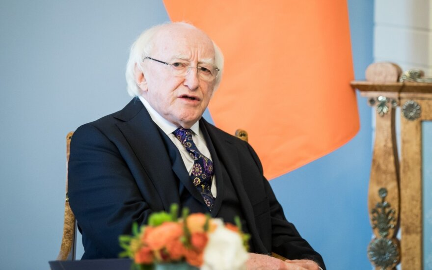 The President of Republic of Ireland Michael D. Higgins in Vilnius