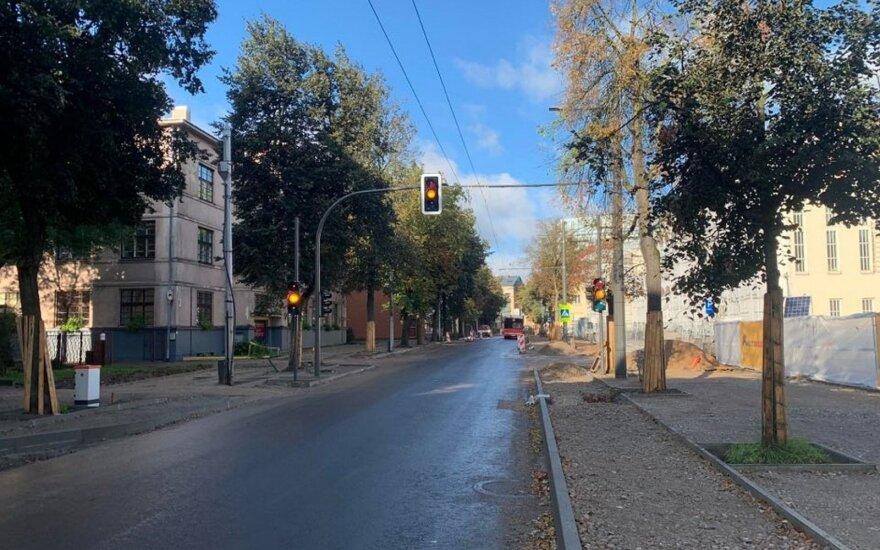 Kaune – dar vienas naujas šviesoforas