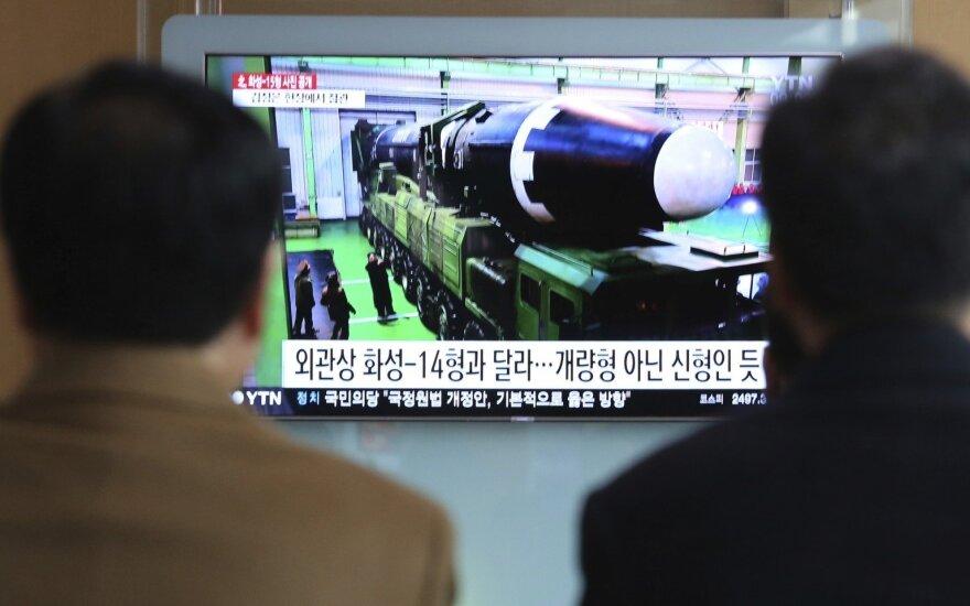 Šiaurės Korėja smerkia JT vadovo raginimus imtis denuklearizacijos