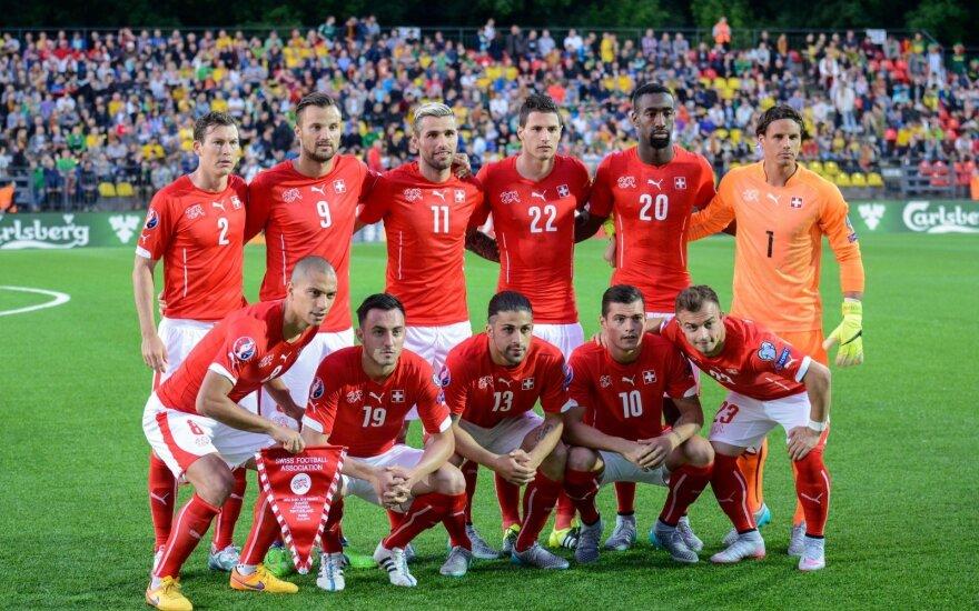 Šveicarijos futbolo rinktinės sudėtyje Europos čempionatui – vienas naujokas