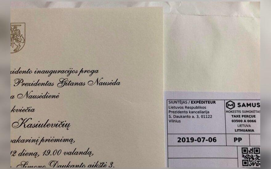 Vytautui Kasiulevičiui skirtas kvietimas į Gitano Nausėdos inauguraciją
