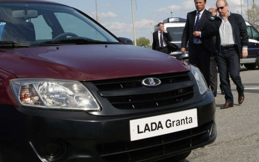 V.Putinas Lada Granta pristatyme