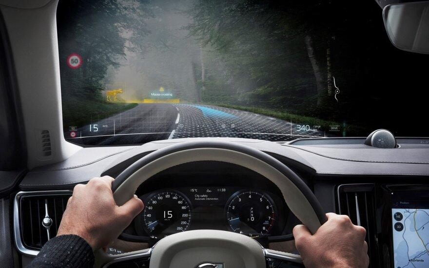 """""""Volvo"""" automobilius gamins pasitelkusi mišriąją realybę"""