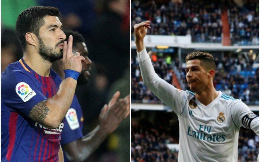 Luisas Suarezas ir Cristiano Ronaldo