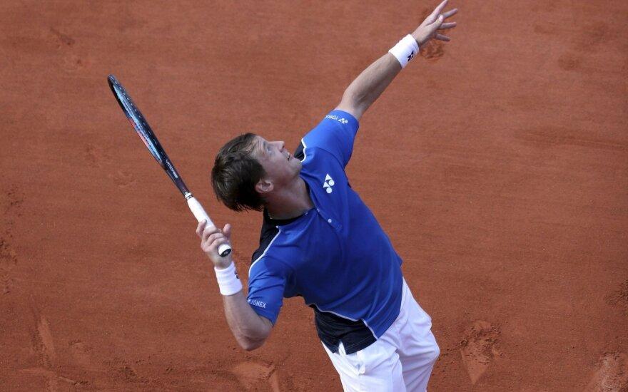 Berankis ATP turnyre įveikė vieną geriausių Rusijos tenisininkų