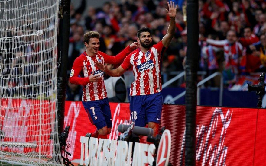 """""""Atletico"""" ir """"Real"""" laimėjo Ispanijoje, """"Napoli"""" ir """"Juventus"""" neklumpa Italijoje"""