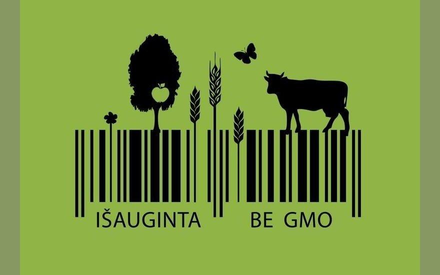 Konkurso dalyvio darbas. Ženklas be GMO