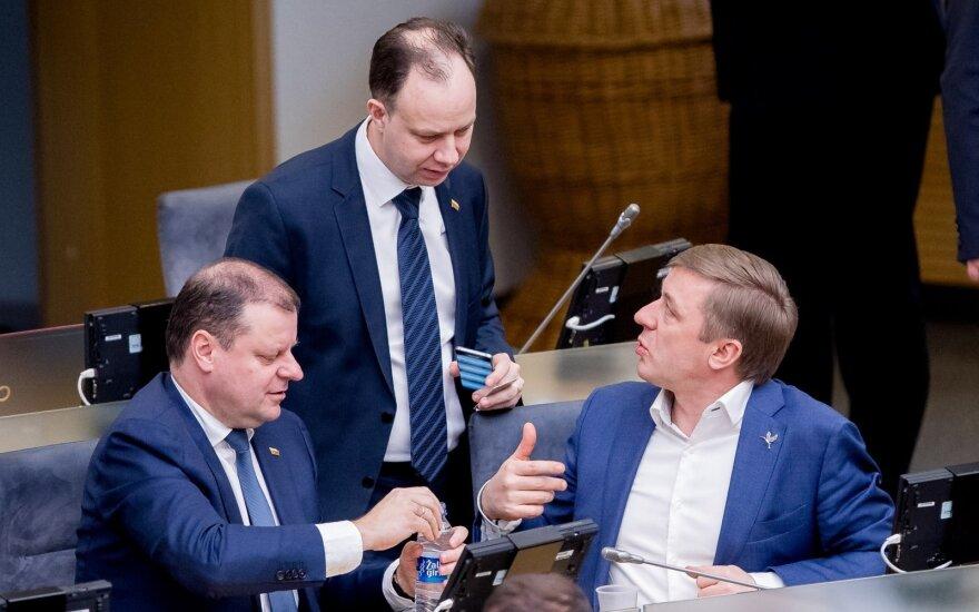 Saulius Skvernelis, Aurelijus Veryga, Ramūnas Karbauskis