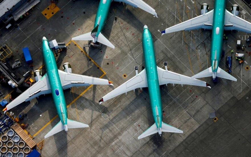 """""""737 Max"""" krizė: """"Boeing"""" lėktuvų pernai užsakyta mažiausiai per kelis dešimtmečius"""