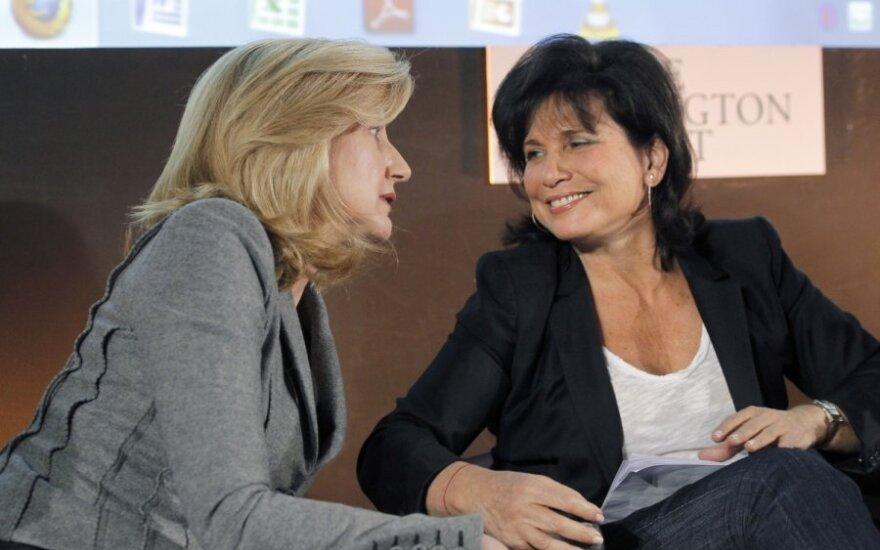 Arianna Huffington ir Anne Sinclair