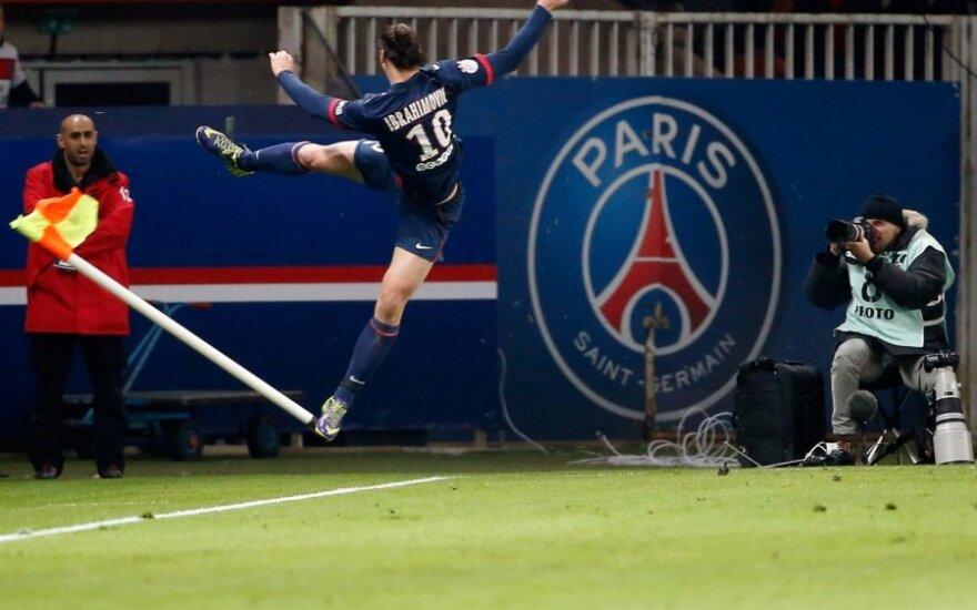 Zlatanas Ibrahimovičius džiaugiasi pelnytu įvarčiu
