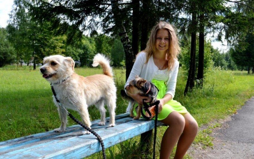 Namuose atsiradę šuneliai – tobulas derinys