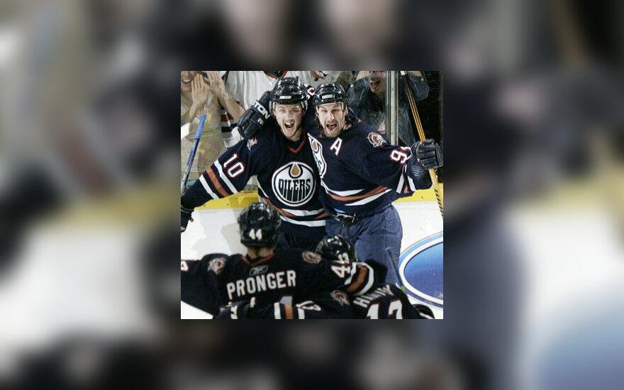 """Edmontono """"Oilers"""" ledo ritulininkai"""