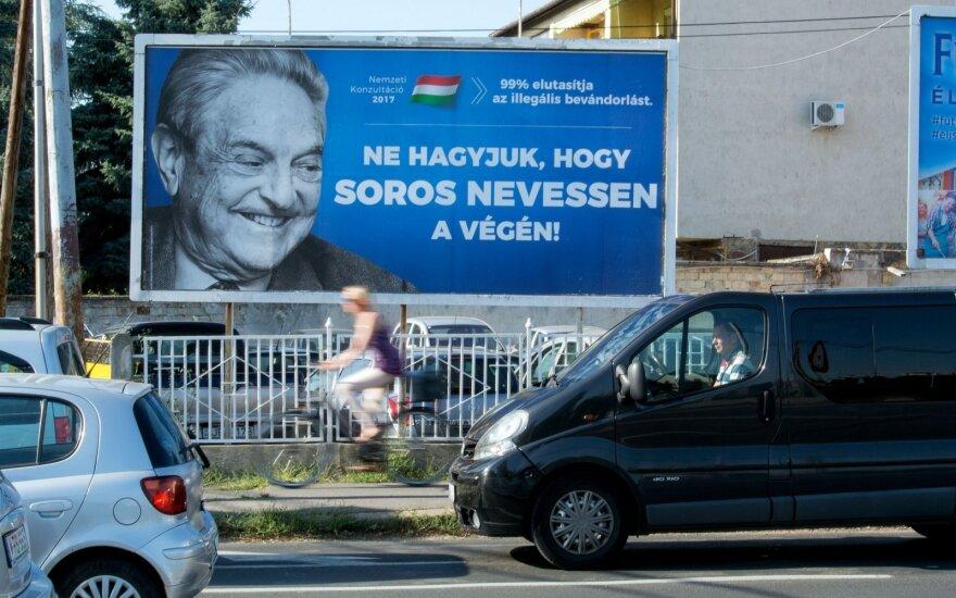 Vengrija apskųsta ES teismui dėl prieš Sorosą nukreiptų įstatymų