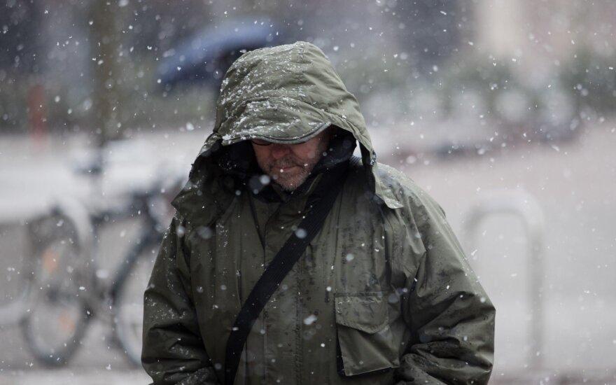 Vos pasibaigus rudeniui įsivyraus žiemiški orai