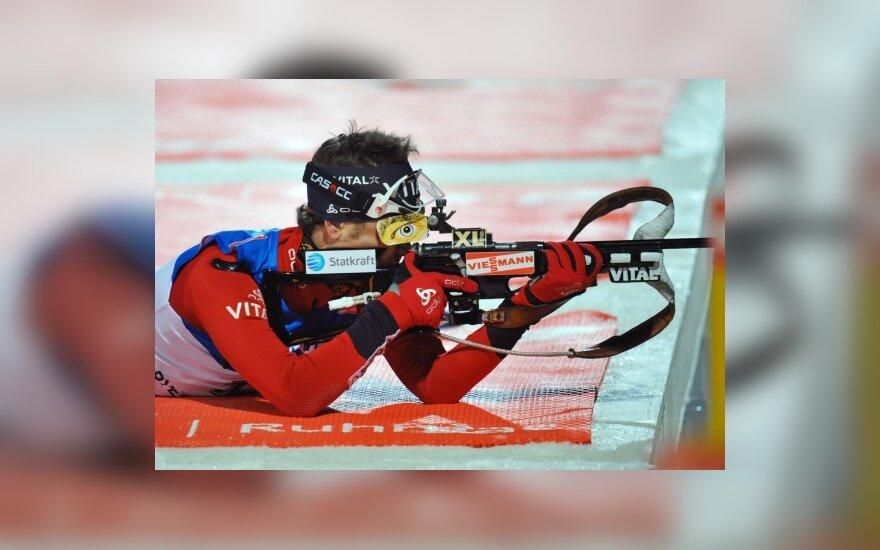 O.E.Bjoerndalenui – dar vienas pasaulio biatlono čempionato aukso medalis