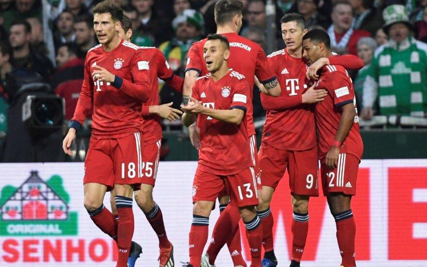 """""""Bayern"""" džiaugiasi Serge'o Gnabry įvarčiu"""