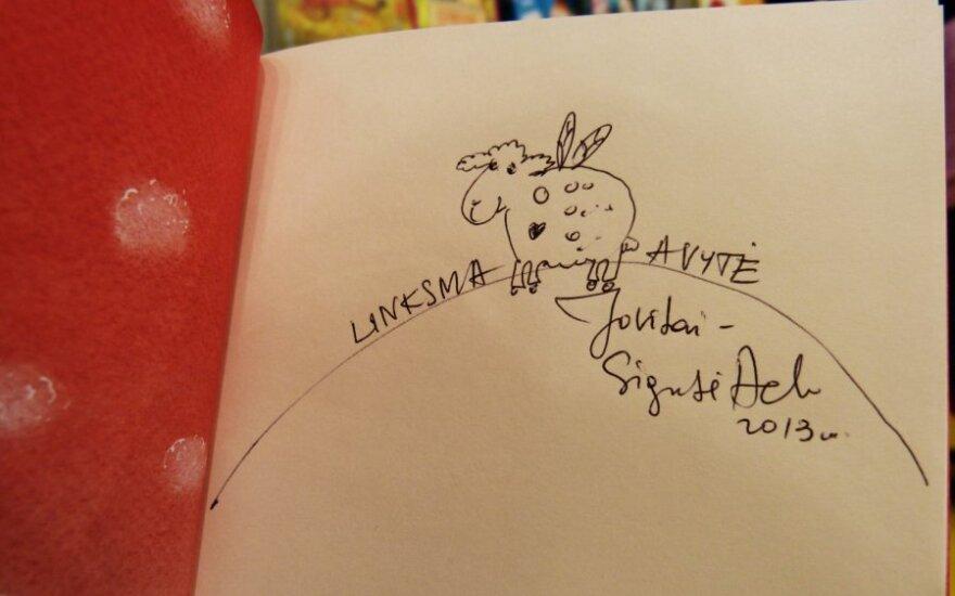 Vilniaus knygų mugėje - susitikimas su Sigute Ach ir patriotinės nuotaikos