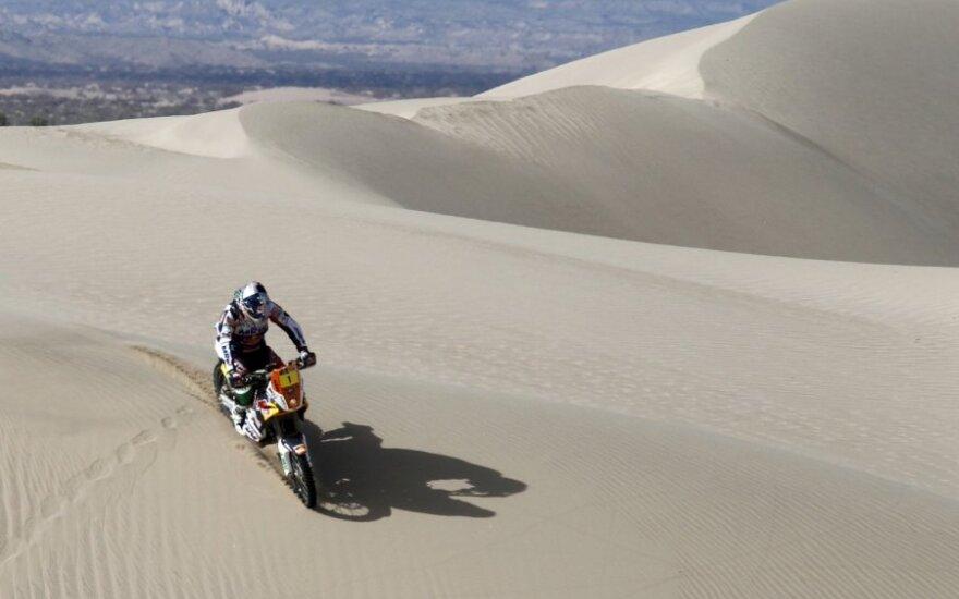 Marcas Coma su KTM  Dakaro ralio penktame etape