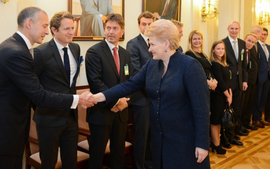 President Dalia Grybauskaitė met with the heads of Norwegian business companies and investment funds