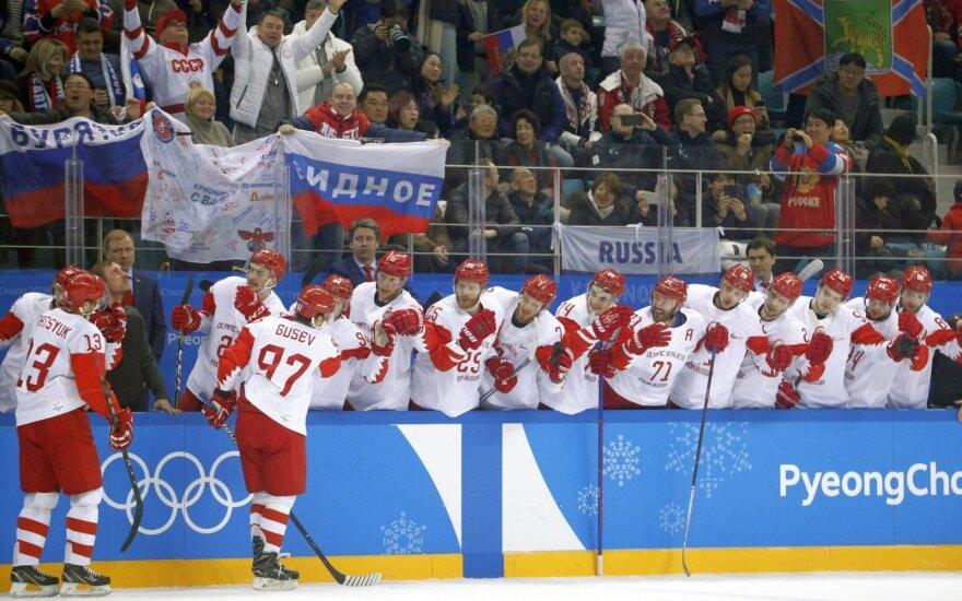 Per 28 sekundes reikalus išsprendę rusai – olimpiados ledo ritulio finale