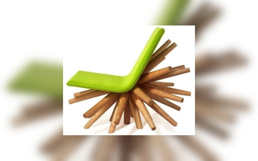 17. Sprogstanti kėdė. Dizainas: Oliver Tilbury
