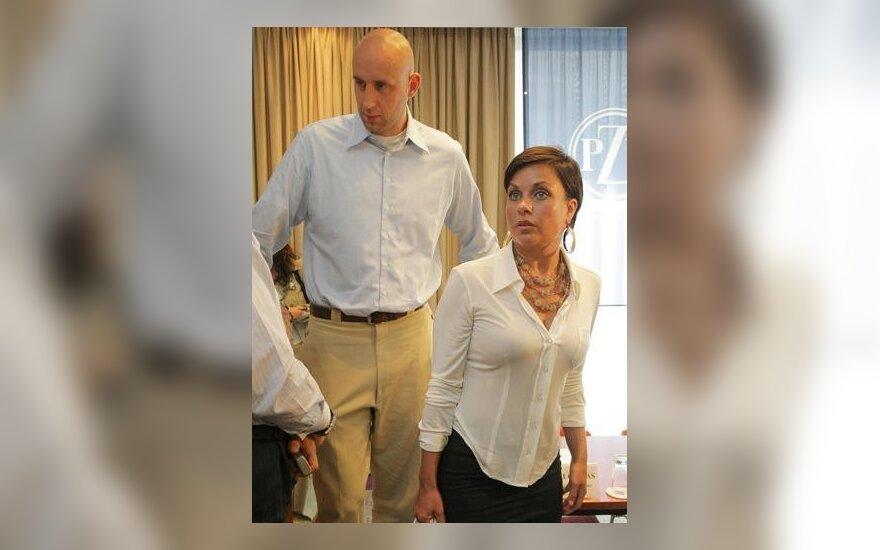 Žydrūnas Ilgauskas su žmona Jennifer
