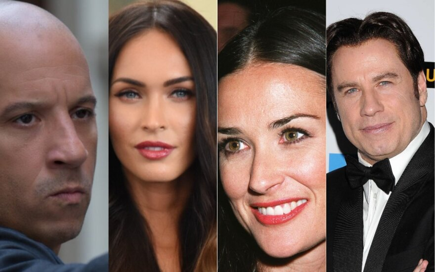 Vinas Dieselis, Megan Fox, Demi Moore, Johnas Travolta