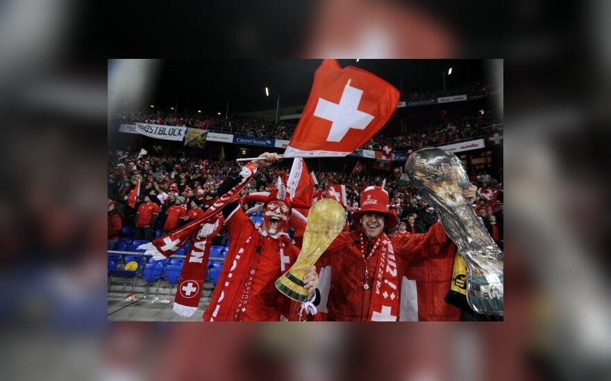 Šveicarai triumfuoja