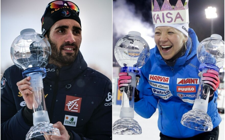 Martinas Fourcade'as ir Kaisa Makarainen