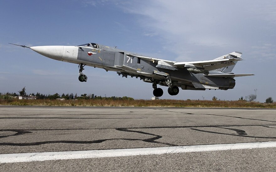 Russian Su-24 fighter jet