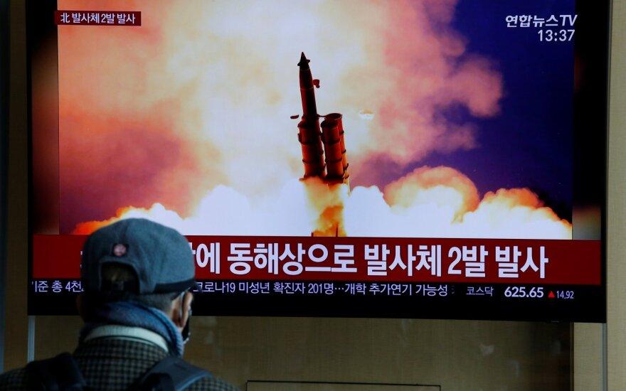 Šiaurės Korėja paleido kelias trumpojo nuotolio balistines raketas