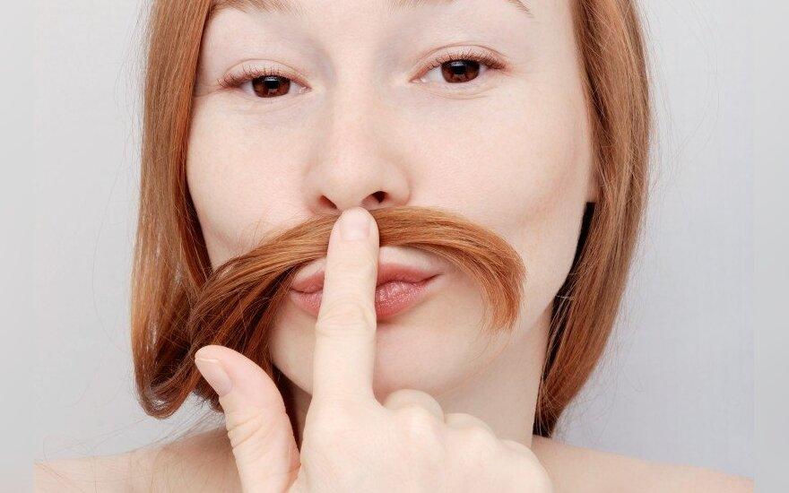 Kokias ligas gali pranašauti padidėjęs moterų plaukuotumas?