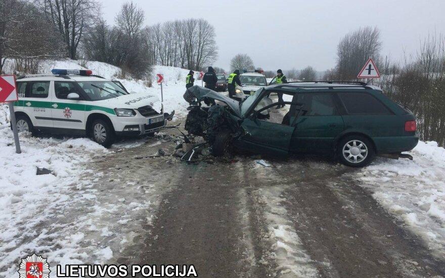 Policijos avarija Pakalniškių kaime