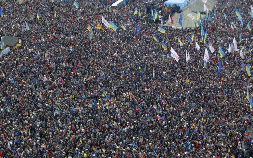 Protestai Kijeve sekmadienio vakarą