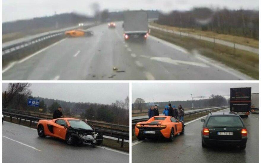 McLaren avarija Lenkijoje