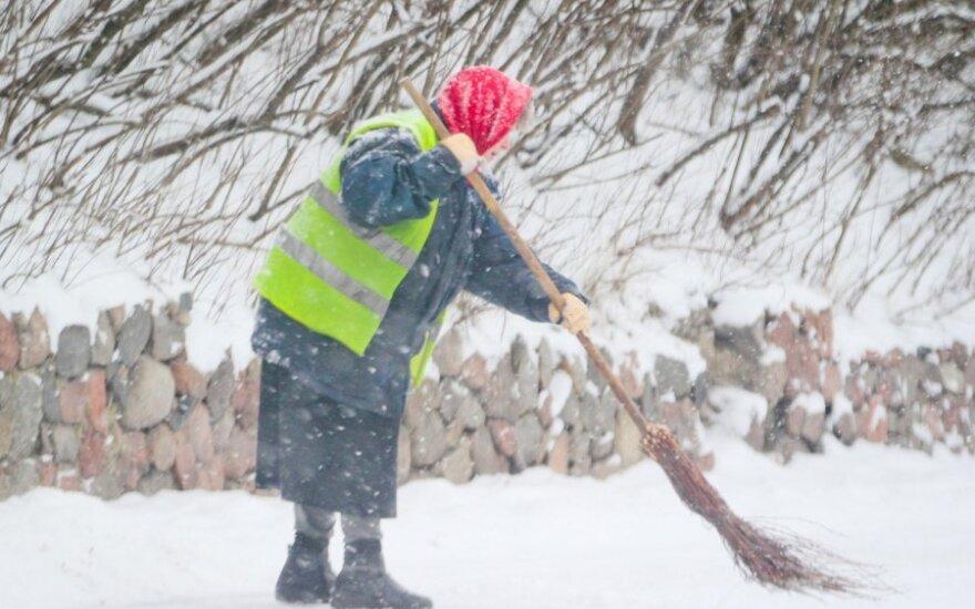 """""""Grindos"""" direktorius: Vilniaus gatvės yra normalios žiemos gatvės"""