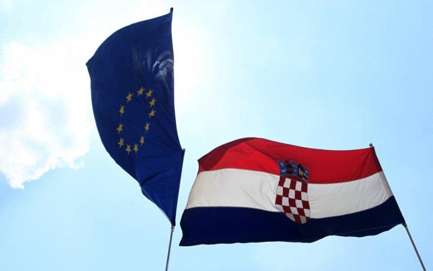 Tarp ES naujokės Kroatijos ir Europos Komisijos įsižiebė pirmasis konfliktas