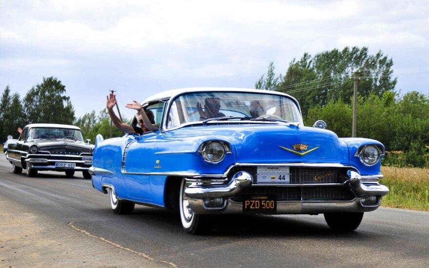 """Biržuose rengiamas klasikinių automobilių suvažiavimas. Klubo """"Klasika"""" nuotr."""